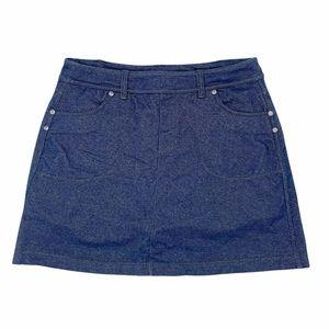 Athleta Berrona Women's Blue Denim Athletic Skirt Skort with Shorts Size Small